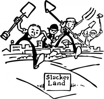 Slacker Land clip art