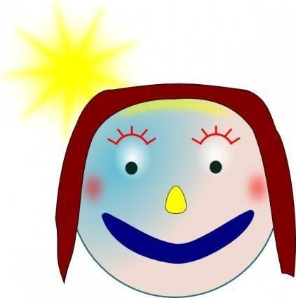 Smiley Girl clip art