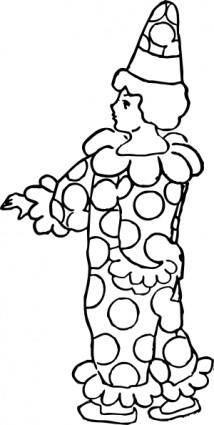Fool Clown clip art