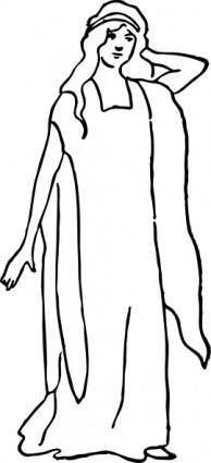 A Character Representing Faith clip art