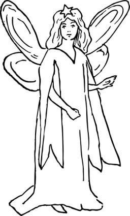 free vector A Character Representing Hope clip art