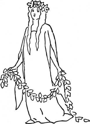 A Character Representing Charity clip art