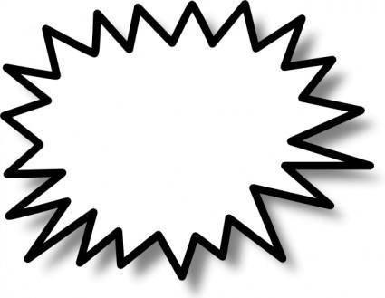Star Callout clip art