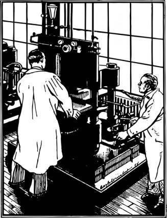 free vector Hydraulic Press Testing clip art