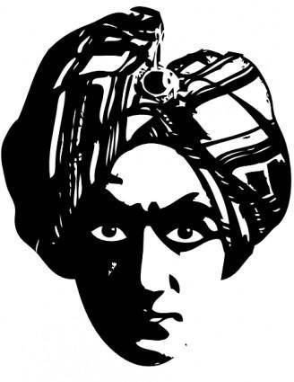 free vector Spooky Person Head Turbine clip art