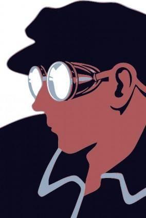 free vector Goggles Guy clip art