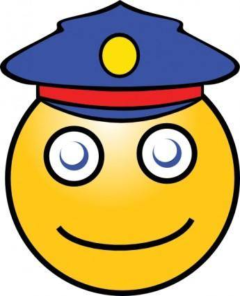 free vector Smiley Postman clip art