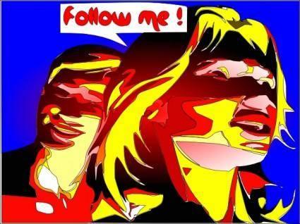 Follow Me clip art