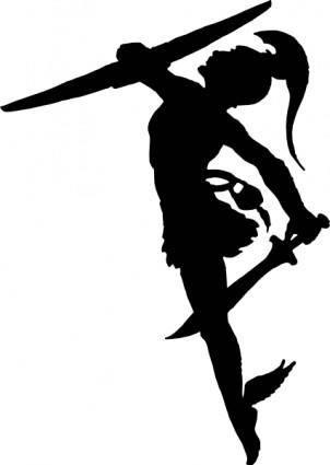 Perseus Silhouette clip art