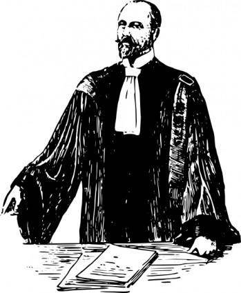 free vector French Lawyer Early Th Century clip art