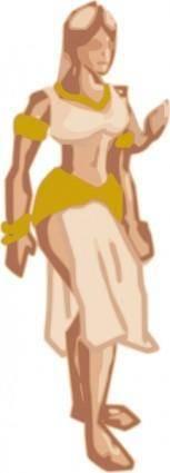 free vector Runamuck Fantasy Woman clip art