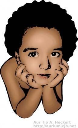 free vector Menino Pensando clip art
