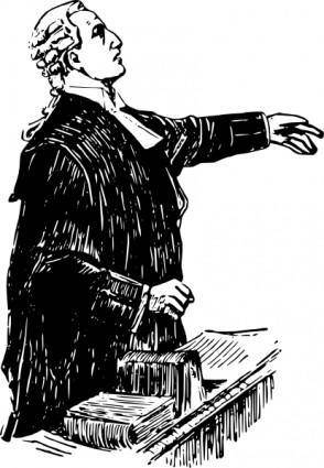 free vector English Lawyer Early Th Century clip art