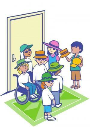 Kids With Hats clip art