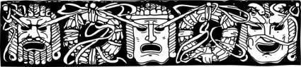 Mask Border clip art