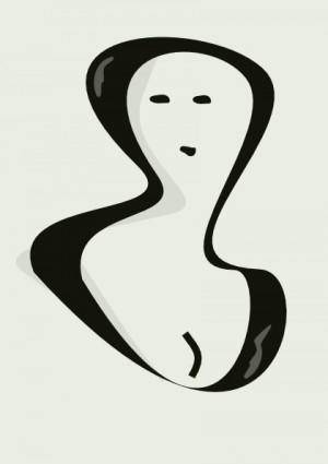 Portrait Of A Woman clip art