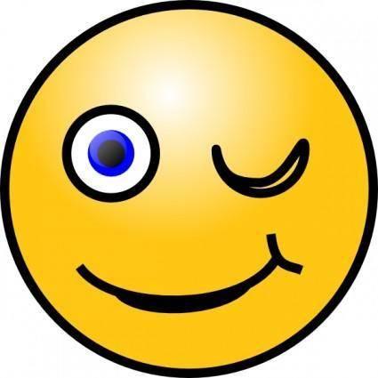Wink Smiley clip art