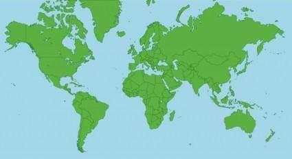 free vector Globe Map