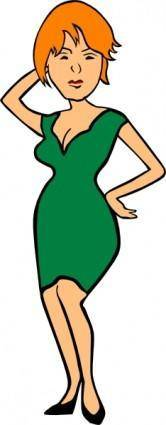 free vector Woman Fashion clip art
