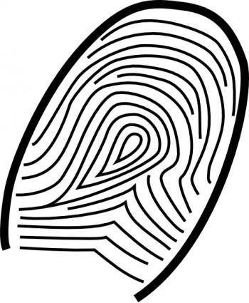 free vector Fingerprint clip art