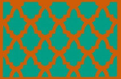 free vector Morroccan Lattice Tile clip art