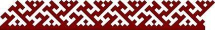 Okrug Pattern Border clip art
