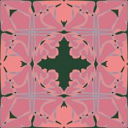 free vector Art Nouveau Tile Pattern clip art