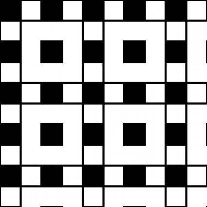 Squares Assyrian 1 Pattern clip art