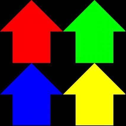 Arrows Reverse 3 Pattern clip art
