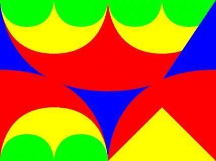 Arches Interlocking 3 Pattern clip art