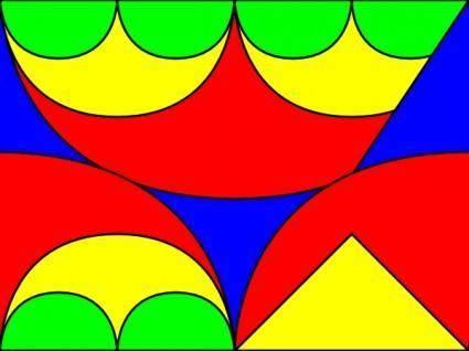 Arches Interlocking 2 Pattern clip art