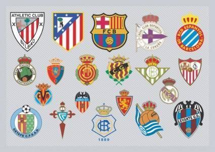 free vector Spanish Football Team Logos