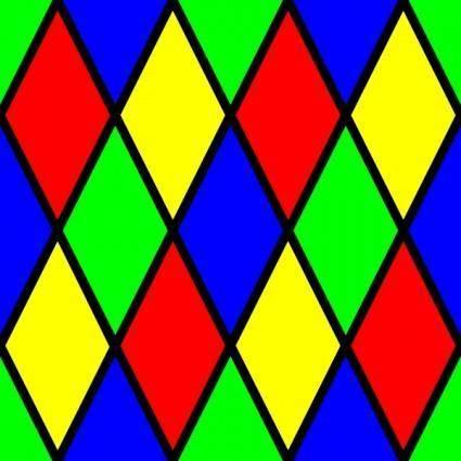 Diamond Harlequin 3 Pattern clip art