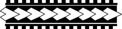 Samoa Tatoo Pattern 001 clip art