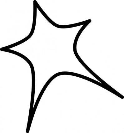 free vector Star Sign Outline clip art