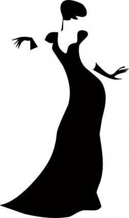 Romanov Dark Lady clip art