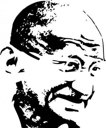 free vector Mahatma Gandhi clip art