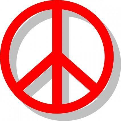 free vector Peace Sign clip art