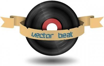 Vector Beat Record clip art