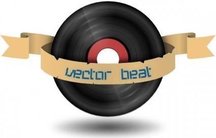 Vector Beat Record clip art