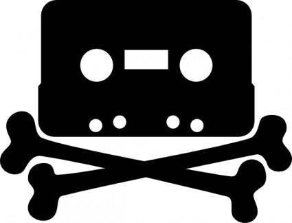 Cassette Bones clip art