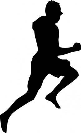 free vector Jumping Dancing Silhouette Running clip art