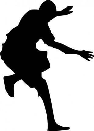 Man Jumping Silhouette clip art