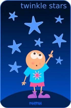 Kablam Numu Stars clip art