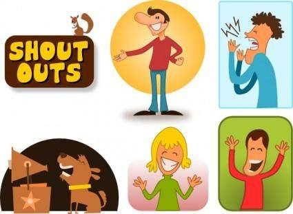 free vector Kablam Shout Outs clip art