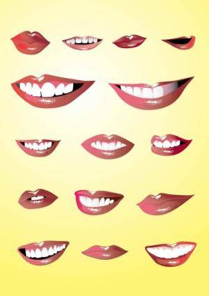 free vector Lips Set