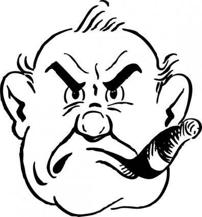 free vector Gruff Man clip art