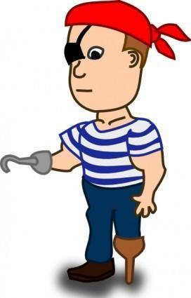 Comic Characters Pirate clip art