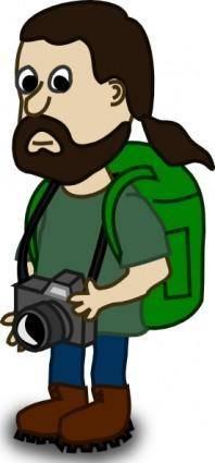 Comic Characters Trekker clip art