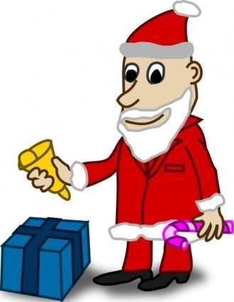 free vector Comic Characters Santa clip art
